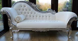 silver tufted sofa furniture white chaise lounge sofa with tufted backrest and