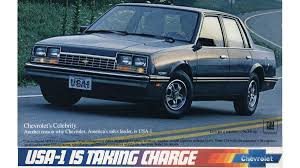 1983 renault alliance the 1983 chevrolet celebrity beats the datsun the audi and the