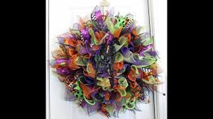 how to make a deco mesh sunburst wreath halloween style youtube