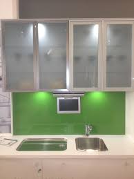 plain kitchen cabinets with glass cabinet door for design