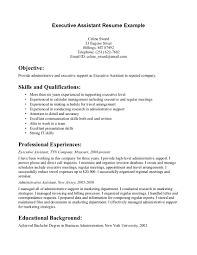 Resume College Degree Executive Assistant Sample Resume Free Resume Example And