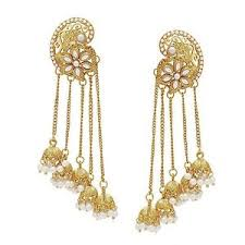 fancy jhumka earrings 18k gold plated fancy party wear jhumka jhumki earrings for