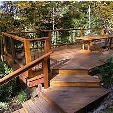 Backyard Deck Ideas Deck Railing Post Anchors Install Posts To Deck Without Notching
