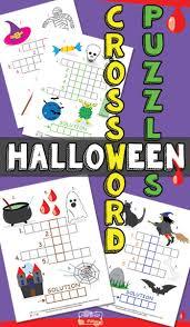 halloween crossword puzzles for kids printable crossword puzzles
