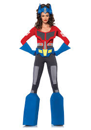 Transformer Halloween Costume Transforms Womens Transformers Optimus Prime Costume