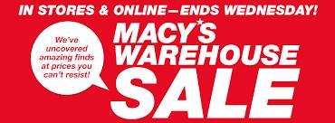 macy s warehouse sale going on now nerdwallet