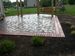 backyard flagstone patio ideas mystical designs and tags
