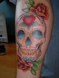 for sure sugar skull tattoo hand small sugar skull tattoo small