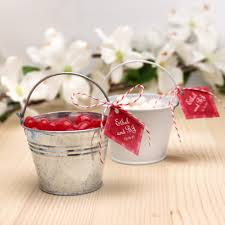 wedding favor containers mini garden pail favor tins theme wedding favors wedding