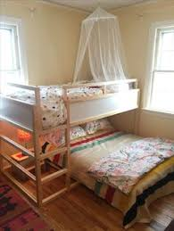 Ikea Canopy Bed Ikea Kura Bed With Full Bed Under Girls Shared Room Pinterest