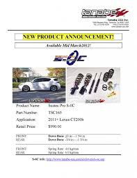 lexus torrance ca new 2011 lexus ct200h sustec pro s 0c coilover kit tsc165