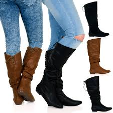 womens boots zip up womens boots mid calf flat low heel zip up slouch