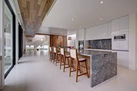 kitchen wooden panelled kitchen design grey marble kitchen