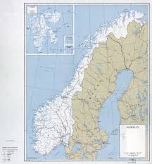 Map Of Norway Large Scale Political And Administrative Map Of Norway And
