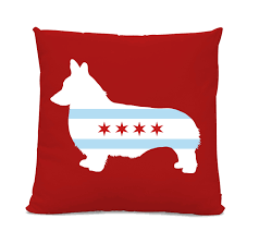 chicago home decor chicago flag corgi pillow chicago home decor corgi pillow dog