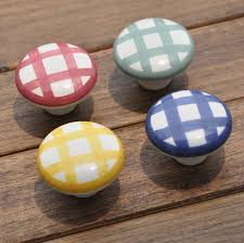 Porcelain Knobs For Kitchen Cabinets 5pcs 38mm Country Style Garden White Kitchen Cabinet Knobs Ceramic