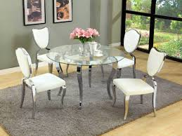 bedroom charming piece round glass dining table pedestal base