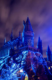 universal studios hollywood lights up christmas in the wizarding