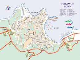 Map Greece by Mykonos Town Map Mykonos Greece U2022 Mappery Cruisin U0027 Pinterest