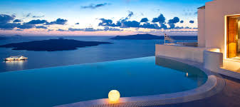 exterior design extraordinary grace hotel santorini with clouds