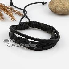 men black leather bracelet images Adjustable woven leather bracelets for men and women wholesale jpg