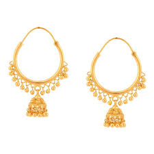 gold jhumka hoop earrings 510166hkaaba00 jpg