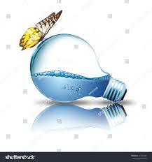 light bulb water inside butterfly on stock photo 111934586