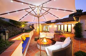 lighted patio umbrella providing an amusing nuance homesfeed cool