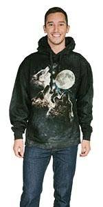 amazon com the mountain three wolf moon sleeve clothing