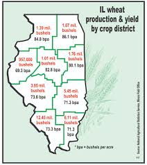 Counties In Illinois Map by Illinois Wheat Yields Smash Record