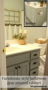 Gray Bathroom Cabinets Easy Way To Paint Your Bathroom Cabinets Painted Bathroom
