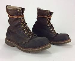 s lace up boots size 11 mens trashed thorogood brown leather lace up boots size 11 ebay