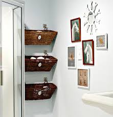 Hanging Bathroom Shelves Bathroom Hanging Basket Racks For Small Bathroom 35 Smart Diy