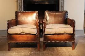 Antique Leather Sofas Wonderful Pair Of Small 1920s French Studded Leather Armchairs