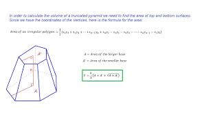 geometry the volume for truncated pyramid with irregular base