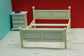how to make a miniature bed frame