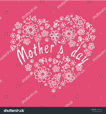 s day decoration doodle flowers mothers day decoration stock vector 265480454
