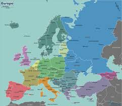 map of germany and surrounding countries with cities europe wikitravel