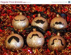 glitter mustache ornaments moustache things that i of want