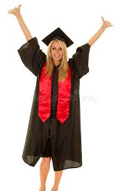 black cap and gown woman in black graduation gown up stock photo image of