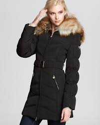 laundry by shelli segal laundry by shelli segal quilted belted coat with faux fur