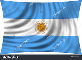Argentine Flag Argentinian National Official Flag Argentine Republic Stock