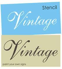 french script stencil vintage fancy font shabby garden chic signs
