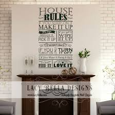 Home Decorating Design Rules Chalkbaord Style Sign Graphic Home Decor Sticker