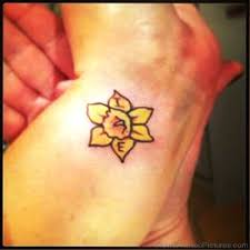 yellow daffodil tattoo pictures to pin on pinterest tattooskid