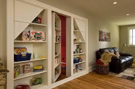 hidden door hinges family room rustic with attic baseboards