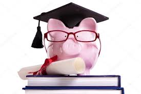 graduation piggy bank student college graduate piggy bank degree diploma isolated on w