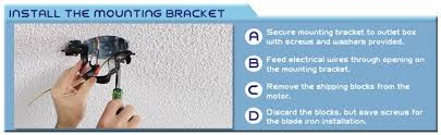 ceiling fan mounting bracket replacement how to install a ceiling fan a step by step installation guide from