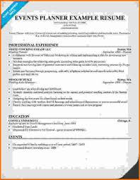 professional event planning resume