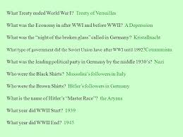 world war ii chapter 18 review sheet answers ppt